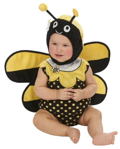Beautiful Bumble Bee Costumes (Just Pretend Kids Infant Romper, 6-12 Months, Bumblebee)