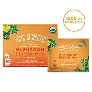 FOUR SIGMATIC Mushroom Elixir Mix with Lions' Mane (20 Packets), 3 g