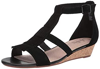 eb30be0d72 Amazon.com | CLARKS Women's Abigail Sun Wedge Sandal | Platforms ...