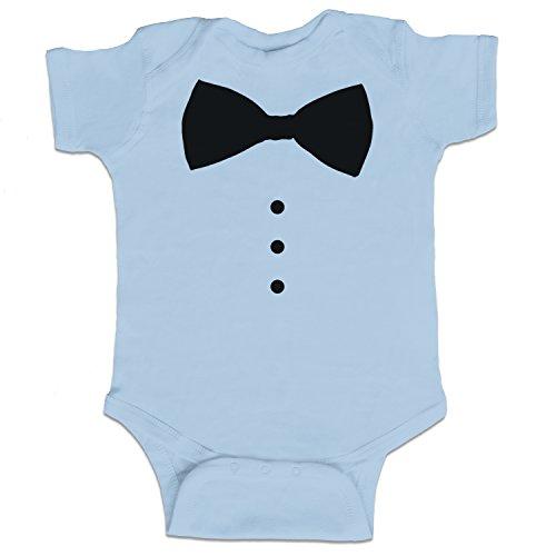 do Funny Baby Boy Bodysuit Infant - Light Blue - 6 Month (Tuxedo 6 Light)