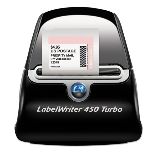 LabelWriter Turbo Printer, 71 Label/Min, 5w x 7-1/5d x 5-1/5h, Sold as 1 Each (Software Dymo File Office)