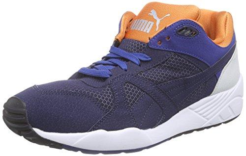 Puma XS500 Compression Herren Sneakers Blau (peacoat-orange-white 02)