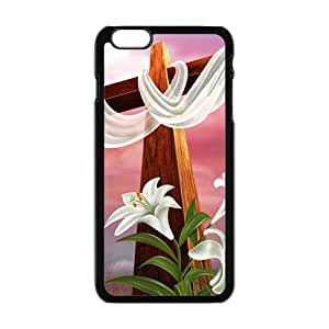Pure red cloth big cross Cell Phone Case for iPhone plus 6