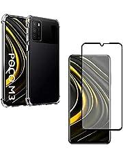 Kit Capa Anti Impacto Xiaomi Poco M3 + Película 5D Nano Cerâmica Full [Sky Dreams]