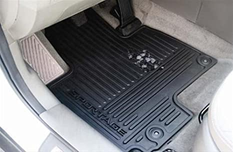 Amazoncom Kia Sportage All Weather Rubber Floor Mats Automotive