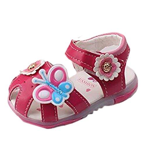 Ohmais Kinder Baby Mädchen Baby Kleinkind Schuh Leder weich Rose