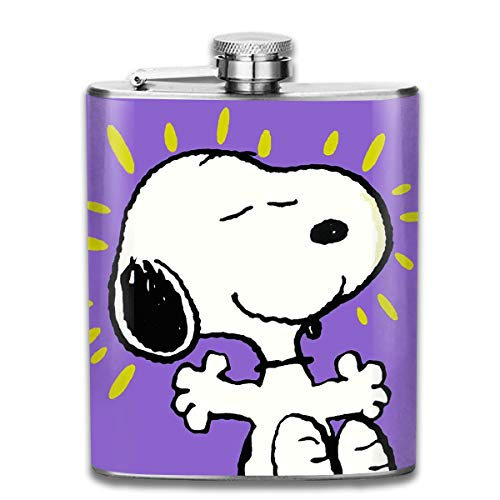 CFECUP Stainless Steel Flask Thank You Snoopy Wine Bottle with Lid Leak Proof 7 - Snoopy You Thank