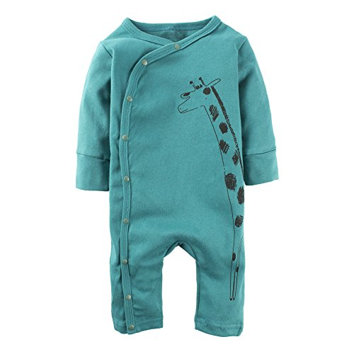 (BIG ELEPHANT Baby Boys'1 Piece Saint Patrick's Day Giraffe Snap up Long Sleeve Romper Jumpsuit L63-80 3-6 Months)