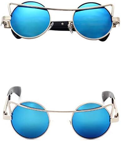 RJGOPL des lunettes de soleil Vintage retro oculos de condução round oculos unique marque designer feminino masculino oculos de sol steampunk C3