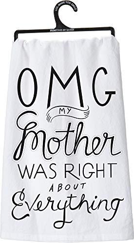 Primitives by Kathy 25101 OMG LOL Dish Towel, 28