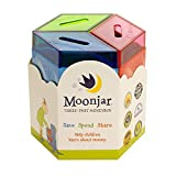 Moonjar Classic Save Spend Share 3-Part Tin Moneybox Bank to Teach Children Money Management