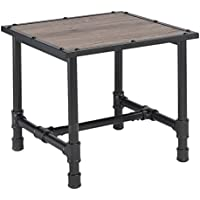 ACME Furniture 82197 Caitlin End Table, Rustic Oak & Black