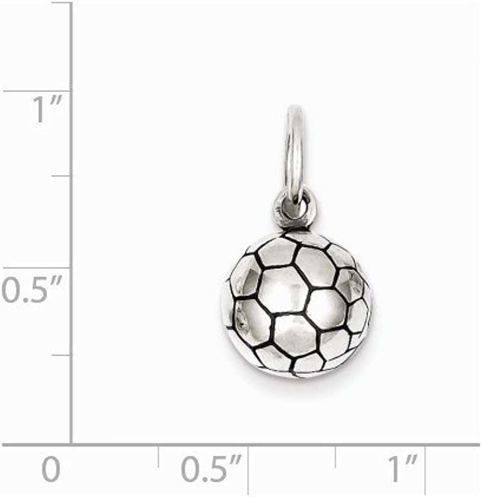 LavaFashion Sterling Silver 8 Ball Charm Necklace 18