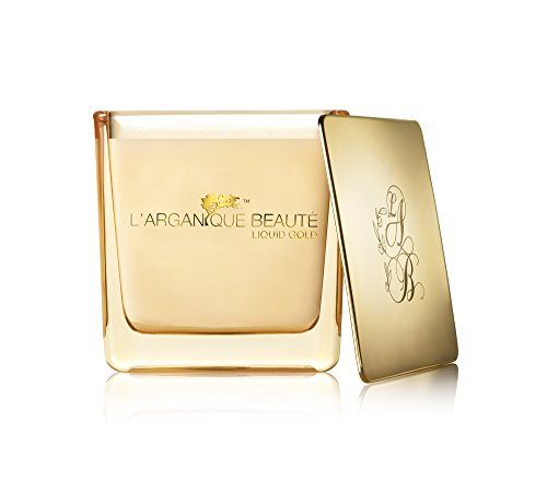 (L'arganique Beauté Liquid Gold Luxury Scented Candle, Perfumed Fragrance Spa Candle - Made w/ 100% Soy Wax, Lead - Free Wick, Pure Moroccan Argan Oil Essence; for Baths, Mother's Day, (7.4oz))