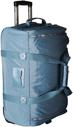 Kipling Women's Discover Solid Small Wheeled Duffle Bag, Blue Bird