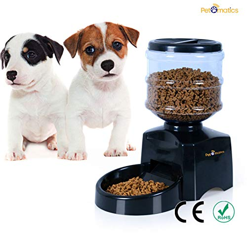 Dog Woof Dish - Premium 5.5L Automatic Pet Feeder for Dogs & Cats | Electronic Control Feeder, Non-Toxic, Safe for All Pets | Large LCD Screen & Voice Record | Sturdy & Reliable Design | Dog Auto Feeding Tray/Bowl