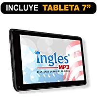 """Curso de INGLES MP3 en Tableta, CURSO de Ingles en Video (Incluye tableta de 7"""" con 100 Lecciones en Video)"""
