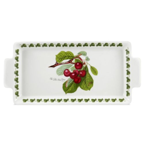 Portmeirion Pomona Earthenware (Portmeirion Pomona Earthenware 15 x 7-Inch Sandwich Tray with Handle)