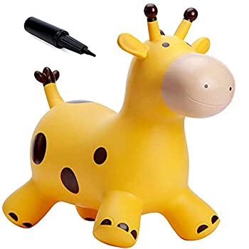 Babe Fairy Giraffe Bouncy Horse Hopper for Toddlers-Leaping Horse Bouncy Buddies-Inflatable Bouncy Animals Hopping Toys with Pump-Reward for 18 Months 2 3 4 Yr Previous Child Lady Boy(W/ Pump)