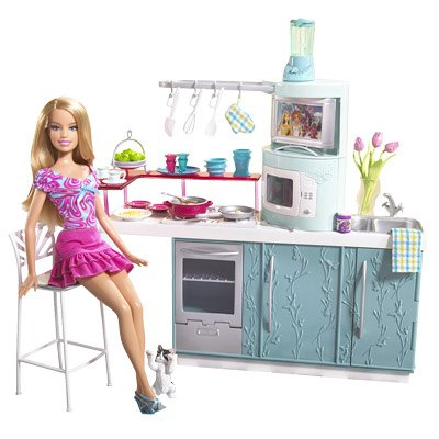 Buy Barbie Kitchen Doll Kitchen Gift Set Online At Low Prices In