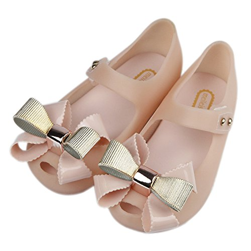 iFANS Girls Sweet Bow Princess Mary Jane Flats Dress Shoes For Toddler/Little Kid