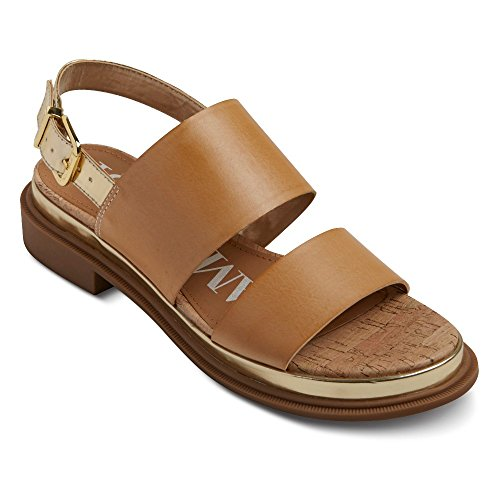 Sam & Libby Marci Quarter Strap Sandals - Nude - size 9 (& Toe Sam Open Sandals Libby)