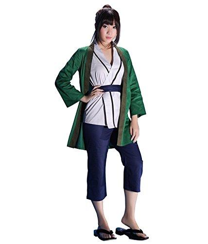 OURCOSPLAY Naruto Green Tsunade Cosplay Costume Coat Vest Pants Belt 4Pcs (Women XL)]()