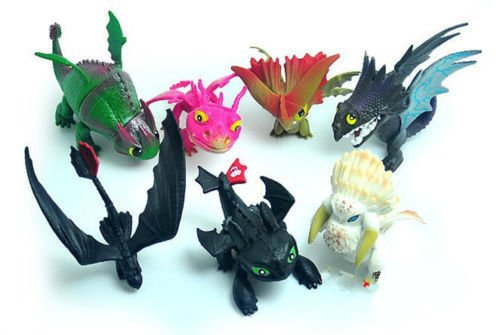 7pcs Set PVC Action Figure Toy How to Train Your Dragon2 Doll Toothless ()