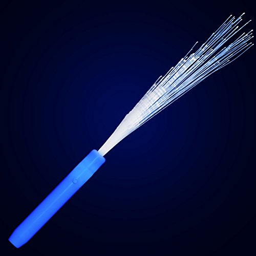 Blue Light Up Fiber Optic Stick Wand (Set of 12)