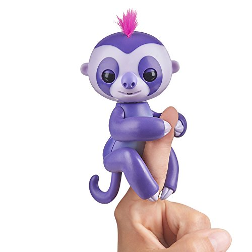 Fingerlings Baby Sloth - Marge (Purple) -  Interactive Baby Pet - by WowWee ()