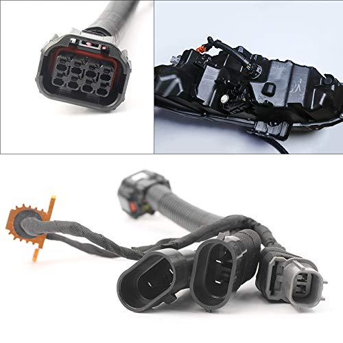 Timmart Full LED Headlight Wiring Harness Conversion Kit Replacement For 2016-18 Honda Civic Touring Type R Halogen ()
