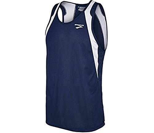 Brooks Athletic Sprinters Sleeveless Top - Navy/White - X-Small