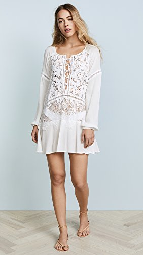 For Love & Lemons Women's Olympia Lace Cover Up Tunic, White, Small by For Love & Lemons (Image #2)