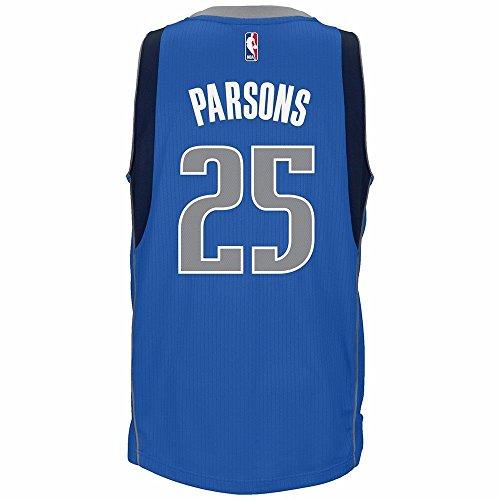 adidas Chandler Parsons Dallas Mavericks Road Swingman Jersey (Blue) L