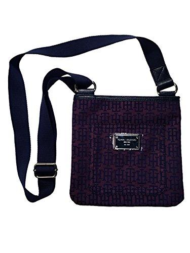 womens-tommy-hilfiger-handbag-sm-xbody-bag-purse-crossbody-cross-body-purple-navy-cross-logo