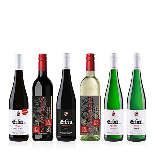 """Langguth Erben""""Lieblich/ Süßer Weingenuss"""" Probierpaket (6 x 0.75 l) 6 Flaschen Wein, Weintasting – Rotwein, Weißwein"""