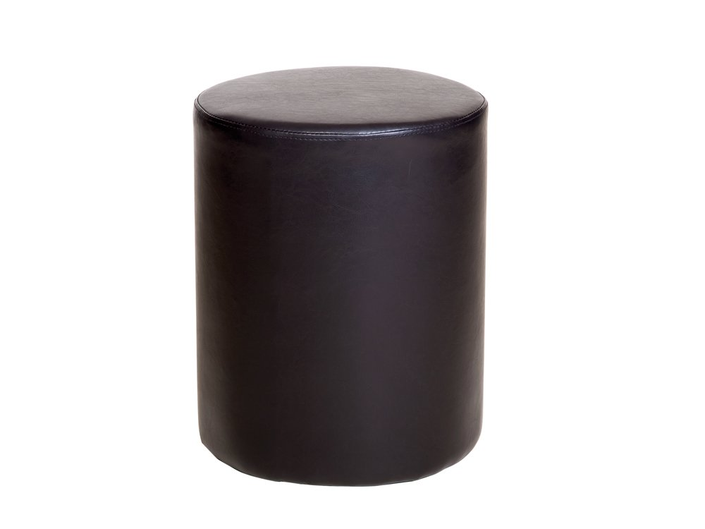Core Products Round Stool in Faux Leather, Brown ML100BR RNSTL