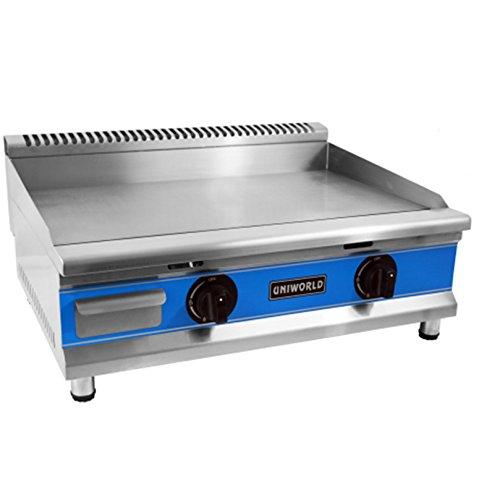 UniWorld 30'' Stainless Steel Natural Gas Griddle Kitchen Restaurant UGR-G30
