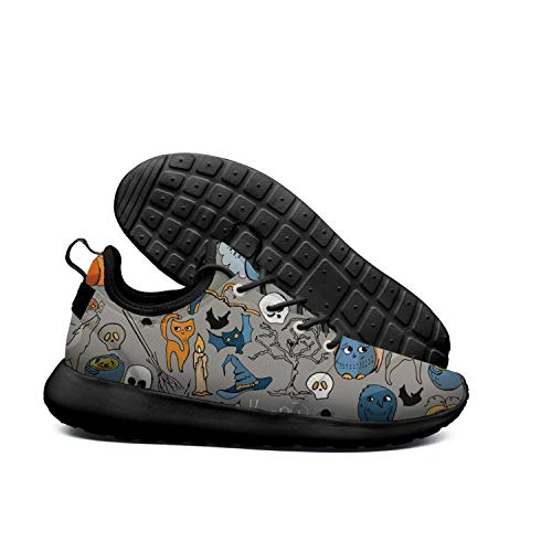 Eoyles gy Special Halloween Symbols Young Men Slip Resistant Lightweight Running Basketball Shoes]()