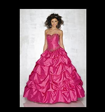 Mori Lee Fuscia Prom Dress Size 2