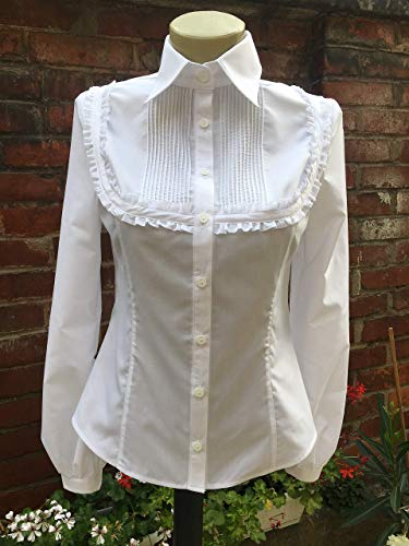 Renaissance blouse, Pirate shirt, White cotton blouses, Steampunk Wench Victorian Blouse, Lagenlook clothing, Plus size, Princess, Fairy -