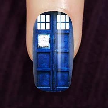 Amazon Tardis Doctor Who Fingernails Kit Nail Art Set 20pcs