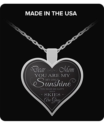 Mom Mom Necklace - Silver Pendant - Lovely Gift - Love Words