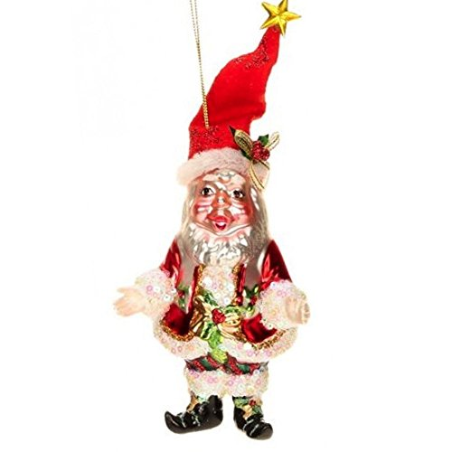 Mark Roberts Glass Christmas Ornament 36-44060 Jolly Old Elf ()