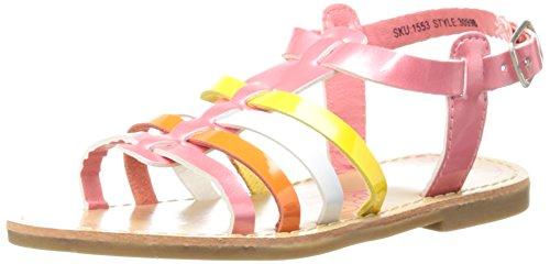 Josmo Multi Color Strap Sandal (Toddler/Little Kid),Coral Patent/Multi,7 M US Toddler