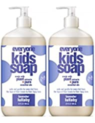 Everyone 3-in-1 Soap for Every Kid Safe, Gentle and Natural Shampoo, Body Wash, and Bubble Bath, Lavender Lullaby, 2 Count