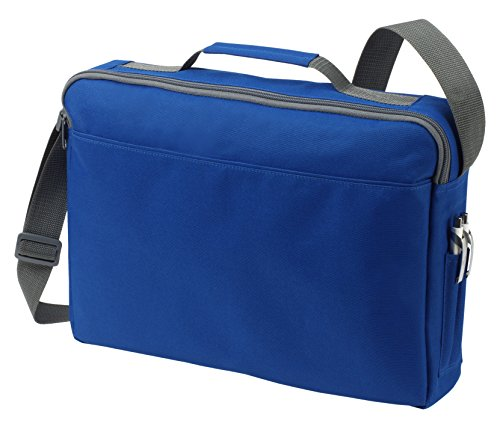 Bolsa de hombro bolsa de mensajero Bolsa del ordenador portátil en amarillo azul real