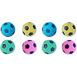 PetFavorites Foam/Sponge Soccer Ball Cat Toy Best Interactive Cat Toys Ever Most Popular Independent Pet Kitten Cat Exrecise Toy balls for Real Cats Kittens, Soft/Bouncy/Noise Free. (8 Pack)