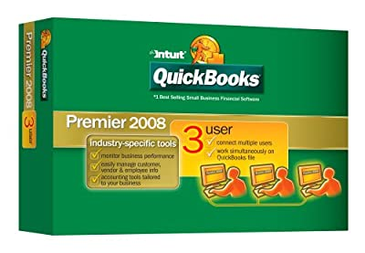 Quickbooks Premier 3 User Industry Edition 2008 [OLD VERSION]