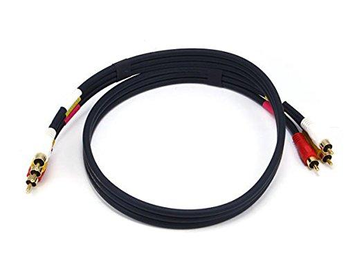 Monoprice 102196 3-Feet Triple RCA Stereo Video Dubbing Composite Cable (3 x RG59U Cable ) - Audio Video Dubbing Cable